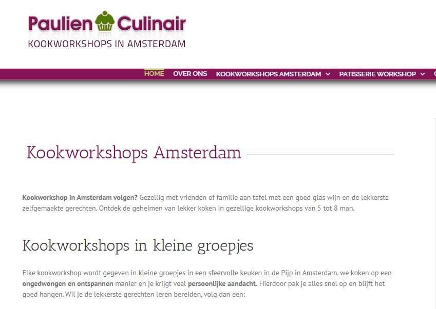 Teksten en website Paulien Culinair