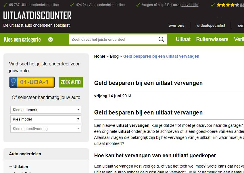 Uitlaatdiscounter blogs